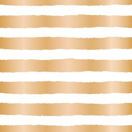 Vector gold rough stripes white seamless pattern Illusztráció