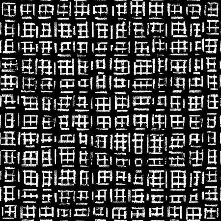 Vector black grid windows white seamless pattern Stock fotó