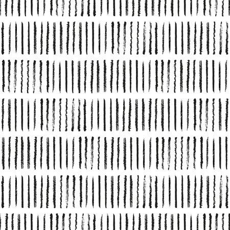 Vector black pencil stripes white seamless pattern Illusztráció
