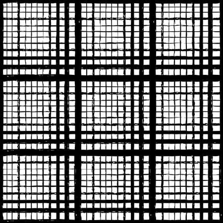 Vector black ink mesh grid white seamless pattern Illusztráció