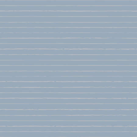 Vector drawn white stripes blue seamless pattern