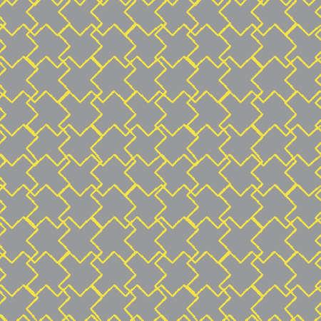 Vector yellow gray grey puzzles seamless pattern Illusztráció