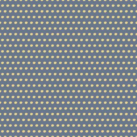Vector painted yellow dots grey seamless pattern