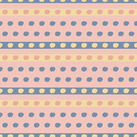 Vector pink yellow dots grey seamless pattern