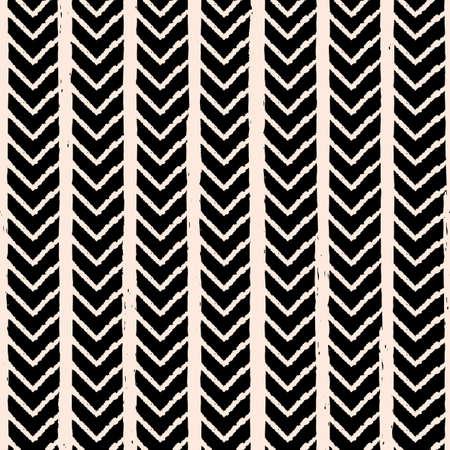 Vector white chevron stripe black seamless pattern Illusztráció