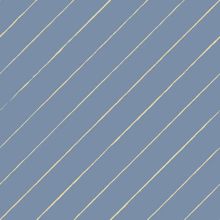 Vector drawn yellow stripes blue seamless pattern Illusztráció