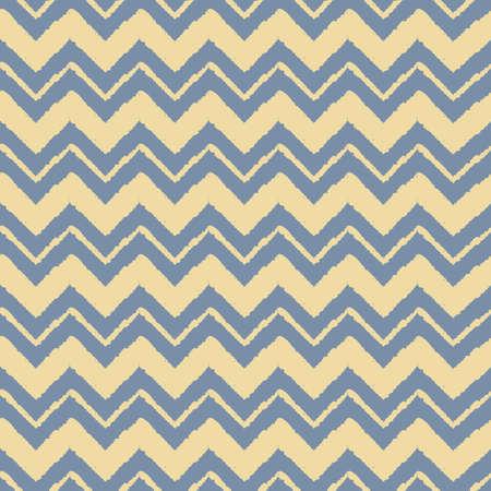 Vector yellow chevron stripe blue seamless pattern Illusztráció