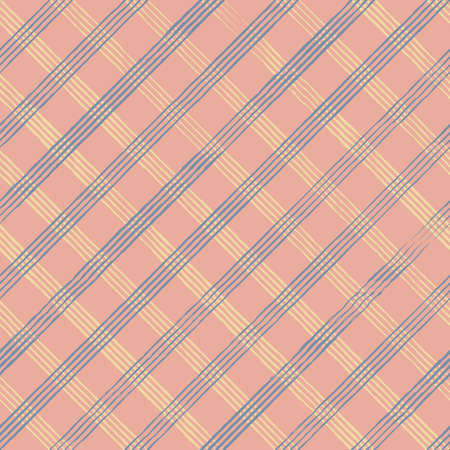 Vector blue yellow check pink seamless pattern