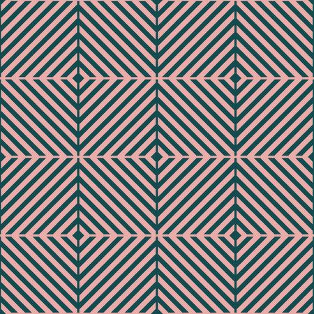 Vector pink green grid optical seamless pattern Illusztráció