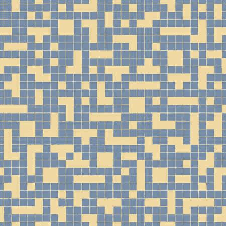 Vector violet yellow blocks mesh seamless pattern Illusztráció