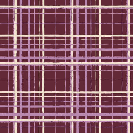 Vector purple brown beige check seamless pattern Illusztráció