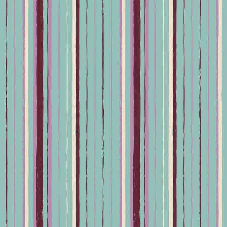 Vector drawn brown lines mint seamless pattern Illusztráció