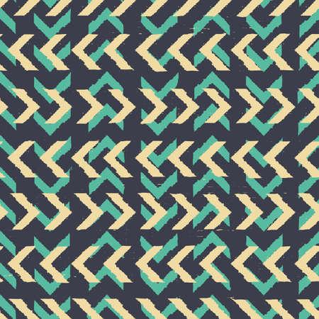 Vector yellow green chevrons dark seamless pattern Illusztráció