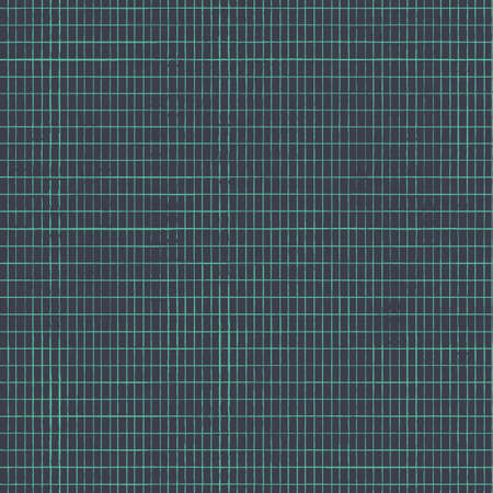 Vector green knitted mesh dark seamless pattern