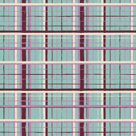 Vector brown violet stripes mint seamless pattern