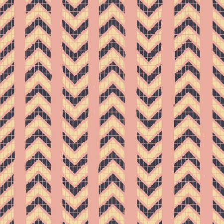 Vector yellow chevrons pink striped repeat pattern Illusztráció