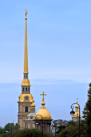 The main spire of the Peter and Paul fortress  Sights Of Saint-Petersburg Stock Photo - 16121685
