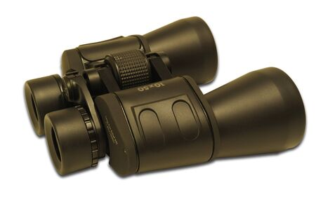 Optical instrument - binoculars, isolated on a white background