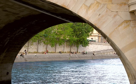 View on the embankment of the river Seine in Paris