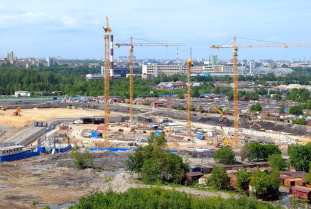 erecting: Construction of the new house in Saint-Petersburg
