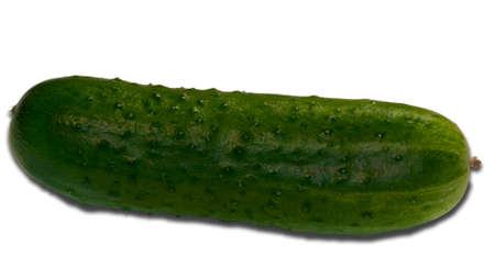 Green cucumber, isolated on a white background  Stock Photo