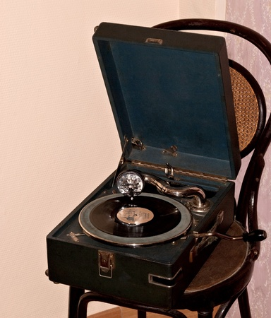 An old record player of the war  1944, Saint-Petersburg