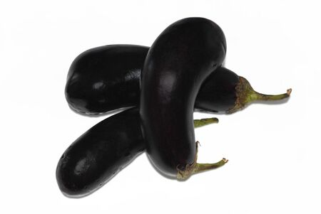 Ripe eggplant, isolated on a white background  Stock Photo - 16583737