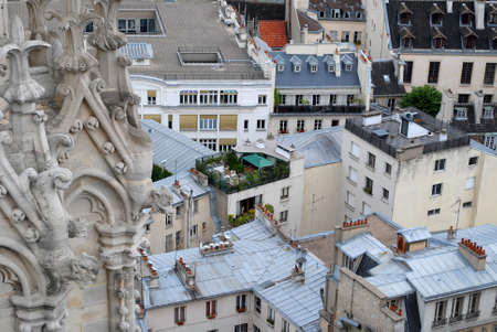A view of the rooftops of Paris aerial view Stock Photo - 17655579