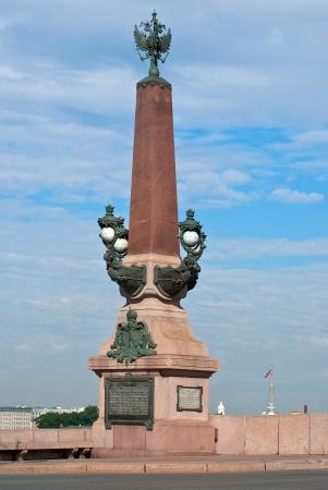 bas relief: Rostral column Kamennoostrovsky bridge and Saint-Petersburg