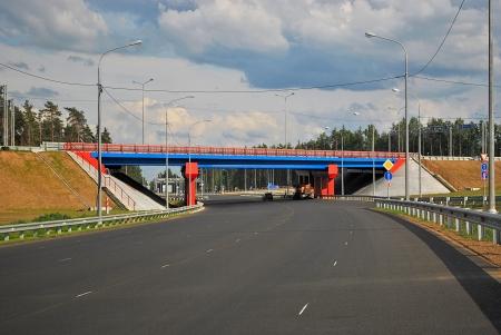 The new motorway junction in the suburbs of Saint-Petersburg