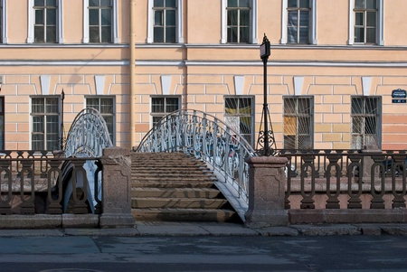 Bridge over the Griboyedov Canal in the center of Saint-Petersburg  photo