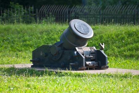 Ancient artillery piece of the last century  Stock Photo