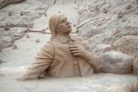 Sand sculpture on the city beach