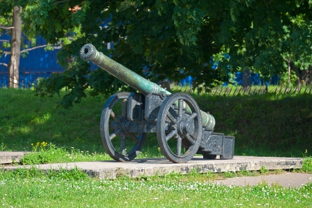 Ancient artillery piece of the last century  Stock Photo