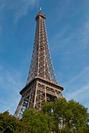 The design of the Eiffel Tower, looking to the sky  photo