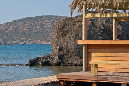 Bay and beach on the coast of Attica, Greece