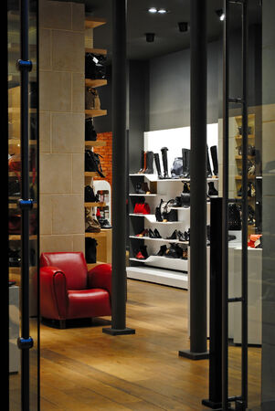View of the interior of one of the Parisian boutiques summer evening with the Rue de Rivoli