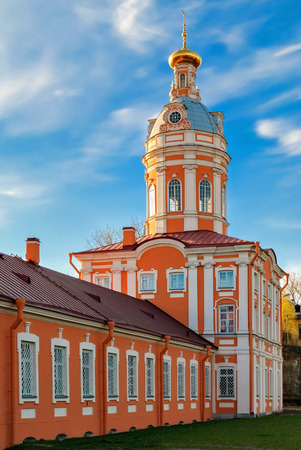 South-Western Tower (Library, ancient repository) of the architectural complex of the Alexander Nevsky Lavra in St. Petersburg.