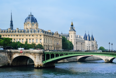 Castle Conciergerie in Paris, on the island of Cite on the banks of the Seine, the former residence of French kings, is now the palace of justice.
