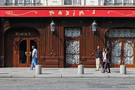 PARIS, FRANCE, September 27: View of the famous restaurant Maxim on Royal Street shot in Paris, September 27, 2013. Editorial