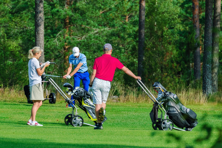 VIERUMAKI, FINLAND, August 22: Golf lovers are discussing another blow to the ball - Vierumaki, Finland, August 22, 2016.