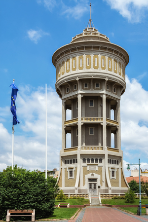 Water tower in St. Stephen's Square in Szeged in Hungary.