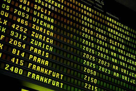 departures board: airport display
