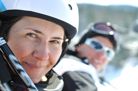 winter woman  ski  sport  fun  travel  snow Stock Photo - 5289856