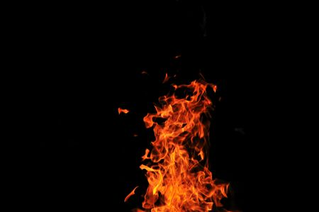 igniting: wild fire flames burn hot with black background