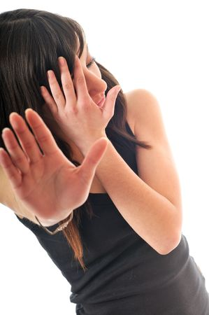 adult rape: woman violence cover face fight fear