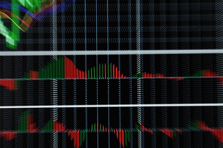 stock market graph on big lcd display closeup macro photo