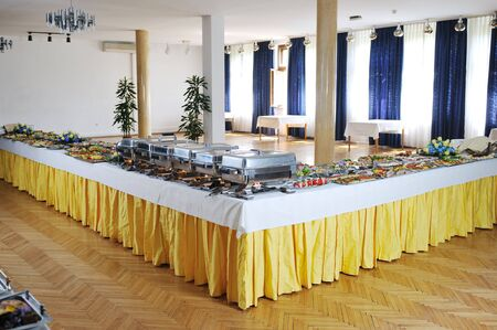 buffet catering food arangement on table photo