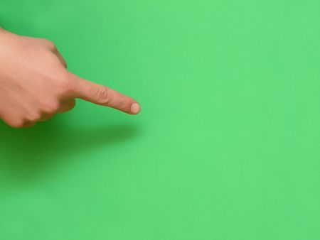 finger closeup, with empty space for write message Stock Photo - 5350160