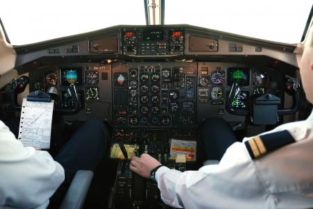 navigational light: airplane cockpit